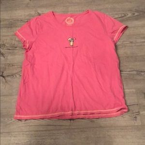 Pink Life Is Good T-Shirt Size L